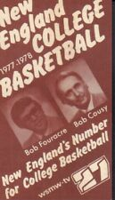 1977-78 New England College Basketball Schedule Bob Cousy jhxb