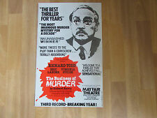 Richard TODD in the BUSINESS of Murder  MAYFAIR Theatre Original  Poster