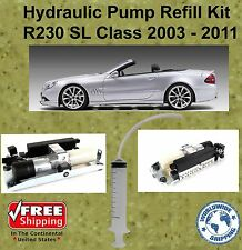 03-11 Mercedes Hydraulic Pump Refill Kit SL Class Convertible R230 With Oil