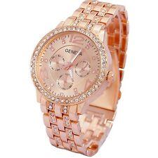 Contever Lady Geneva Quartz Watch Fashion Women Bling Crystal Analog Wrist Watch