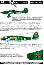 Blue Rider Decals 1/144 SLOVAKIAN AIR FORCE IN WORLD WAR II
