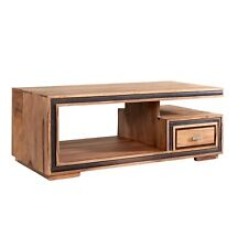 Large Coffee Table with one Drawer Stone Sheesham Collection SN03