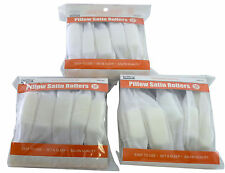 Brittny 30pc Soft Pillow Satin Hair Rollers Curlers Hair Dressing White Lot Of 3
