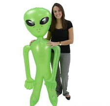 "LOT OF 3 HUGE 72"" GREEN ALIEN INFLATE INFLATABLE 6 FEET BLOW UP PROP GAG GIFT"