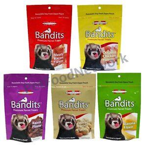 Marshall Bandits Premium  Asst Flavor Ferret Treats, 3-oz bag   (Free Shipping)