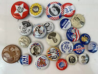 Lot Of 27 Reproduction Metal Political Pins President USA Fast Ship SB3D