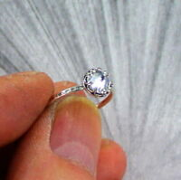 LAB GROWN DIAMOND RING 1.5 CARATS STERLING SILVER BAND 925 White Sterling Silver