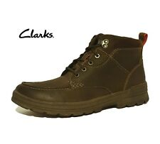 """CLARKS """"RYERSON DALE"""" BROWN NUBUCK LEATHER WALKING HIKING BOOTS MENS UK SIZE 9.5"""