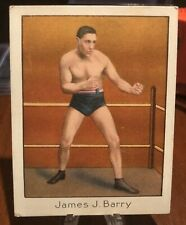 Old Mecca Boxing Cigarette Tobacco Card   James J. Barry