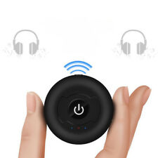 Black Wireless Multi Points Bluetooth Audio Transmitter Splitter Music Adapter