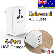 Orico Travel Power Plug Universal Socket Oulet + 4-Port USB charger 2.4A Max