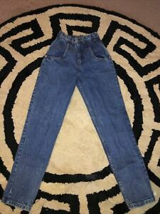 """Vintage  High Rise Tapered Leg Mom Jeans - Women's Made in USA Size 24 X 29.5"""""""