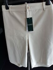 BNWT Ralph Lauren Woman Stone Tailored Shorts. Plus Size US 18 ,  UK 22    2X