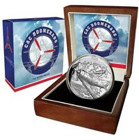 2017 CAC BOOMERANG FIGHTER PLANE High Relief Silver proof Coin