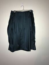 Max Mara Couture Draped Ball Gown Evening Cocktail Full Tulip Skirt Emerald SZ 8