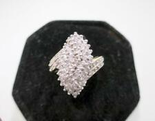 4.5 GRAM LARGE 14 KT YELLOW GOLD 1.50 CTW DIAMOND CLUSTER RING SIZE 8.5