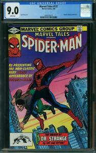 MARVEL TALES 137  CGC 9.0 WHITE PAGES AMAZING FANTASY 15 REPRINT  A6