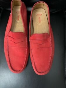 Tods Ferrari Red Sued Size 11