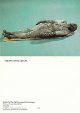 BANDAGED MAN AFTER 30 BC UNUSED COLOUR POSTCARD BRITISH MUSEUM