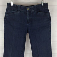 Christopher & Banks Comfort Waist Womens Size 4 Stretch Blue Dark Straight Jeans