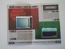 advertising Pubblicità 1967 GRUNDIG TELEVISORE P 1600 SE/RADIO PRIMA BOY