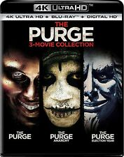 PRE ORDER: THE PURGE 1 2 & 3 collection  (4K ULTRA HD) - Blu Ray -  Region free