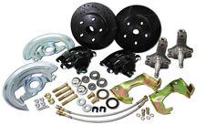 "1964-72 Pontiac GTO ""Total Black Out"" Front 2"" Drop Spindle Disc Brake kit"