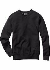 Herren klassischer Pullover mit V-Ausschnitt,schwarz, Gr.64/66,NEU