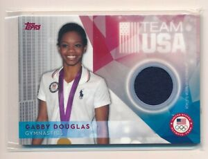 GABBY DOUGLAS 2016 TOPPS U.S. OLYMPIC TEAM RELIC '12 ALL AROUND CHAMPION SILVER