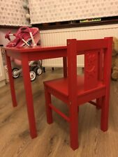 Kids Ikea Table and Chair Red