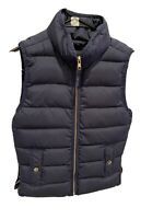 J Crew Women's XS Black  Solid Quilted Puffer Excursion Zip Up Vest