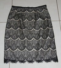 Womens size 10-12 black & gold lace pencil skirt made by MONSOON