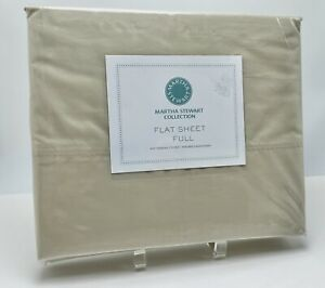 NEW Martha Stewart Full Flat 400 Thread Count Diamond Embroidered Stitch Sheet