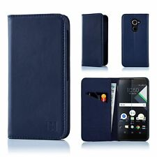 Classic Series - Real Leather Book Wallet Flip Case Cover for Blackberry Dtek60