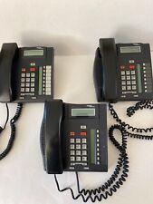 NORTEL Norstar T7208 Charcoal Desk Office Network Lot of 3 Phones