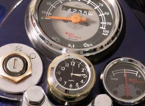 NEW! British Made Solid Brass Royal Enfield ® Stem Nut Clock