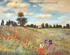 """""""Poppies at Argenteuil"""",  Claude Monet, Reproduction in Oil, 36""""x28"""""""