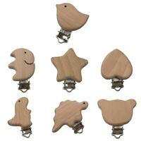 DIY Natural Beech Wood Baby Pacifier Clips Dummy Clips Pacifier Accessory sdRQv