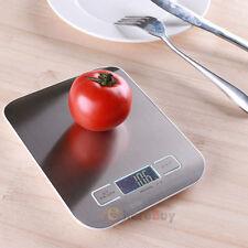 11lb x 0.05oz Slim LCD Digital Kitchen Scale 5Kg x 1g Weight Food Diet Postal M2