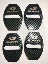 Seat Cupra Door Lock Cover Carbon Fibre Effect 4PCS For Cupra Leon Altea FR