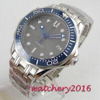41mm BLIGER grau Dial Datum Leuchtzeiger Saphirglas Automatisch men's Watch