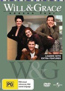 Will & Grace : Season 4 (DVD, 2007, 4-Disc Set) VGC