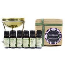 Naissance Brass Burner Aromatherapy Gift Set Inc.6 Essential Oils & Large Burner