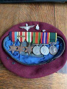 WW2 Medal group Para Regiment Territorial Efficiency Medal 1st Army Bar & Beret