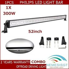 PHILIPS 52Inch 300W Led Light Bar Flood Spot Combo Driving Suv Jeep Truck Motors