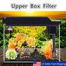 Aquarium Fish Tank Upper Box Filter System w/ Submersible Water Pump