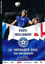 ESTONIA v England (Euro 2016 Qualifier in Tallinn) 2014