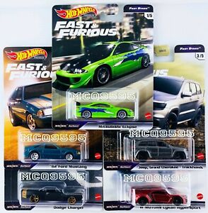 HOT WHEELS 2021 FAST & FURIOUS PREMIUM FAST STARS COMPLETE SET OF 5 CAR IN STOCK