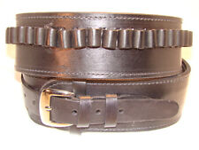 "Black, 48"" - 53"" Hip Size, Leather .38/.357 Cartridge - Gun Belt, 2 1/2"" Wide"