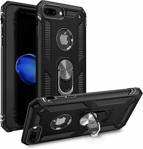 Rugged Case Cover for iPhone 7 8 Heavy Duty Kickstand Shockproof Magnetic